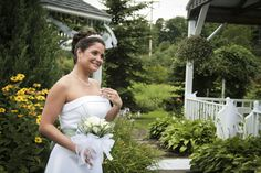 Outdoor Wedding Ceremony, Shy Bride, White and Green Wedding Colors, Inne of the Abingtons http://www.leahdanielsphotography.com/ Scranton Wedding Photographer, Scranton Engagement Photographer
