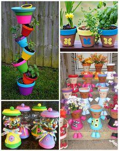 Idee regalo vaso di fiori per la festa della mamma - Crafty Morning, Mothers Day Flower Pot, Mothers Day Crafts For Kids, Diy Mothers Day Gifts, Great Gifts For Mom, Mothers Day Presents, Grandparent Gifts, Grandma Gifts, Diy Mother's Day Crafts, Mother's Day Diy