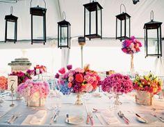 Hanging lanterns for reception tent  // Photo: Heather Waraksa