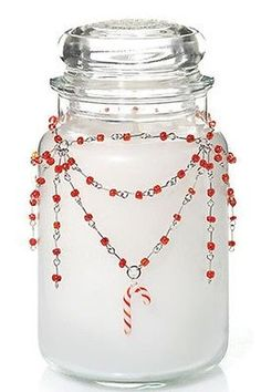 Yankee-Candle-Jar-Accessory-Candy-Cane-Necklace-Jewelry-Topper-Holiday-Winter