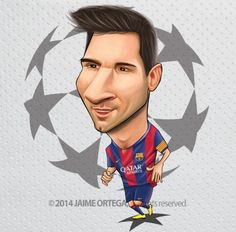 450. Caricature: Leo Messi. [19.09.14]