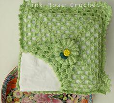 PINK ROSE CROCHET : Porta Guardanapos Verde