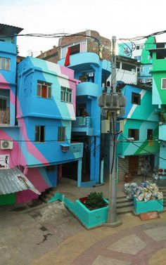 Artists Aim To Rebrand The Slums Of Rio, With A Wave Of Audacious Color