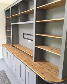 Custom made designs created by the SC Carpentry team Built In Shelves Living Room, Living Room Wall Units, Bookshelves Built In, Home Living Room, Living Room Designs, Home Theather, Living Room Entertainment Center, Built In Cabinets, Home Office Design