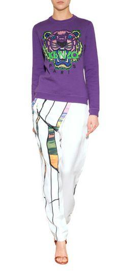 Fauchende Tiger, leuchtende Farbe und ein athletischer Spirit? Das kann doch nur der Must-Have-Sweater von Kenzo sein! #Stylebop