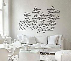 Sticker Déco Géométrique Triangles Effet Abstrait - 120 x 77 cm