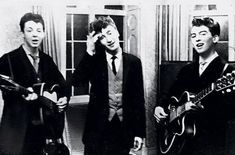 Before fame: Paul McCartney, John Lennon and George Harrison playing at weddings (1958)