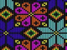 Worki mochilla i wayuu Crochet Scarf Diagram, Crochet Shell Stitch, Bead Crochet Rope, Tapestry Crochet Patterns, Bead Loom Patterns, Mochila Crochet, Cross Stitch Geometric, Creative Knitting, Tapestry Bag