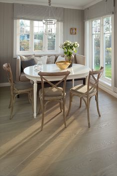 Leading European manufacturer of quality hardwood flooring. Get inspired and find your perfect floor with our FloorFinder. Dining Bench, Dining Chairs, Hardwood Floors, Flooring, Floor Colors, Classic Elegance, Living Room Designs, Your Style, House