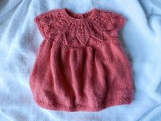 Handmade Pink Knitted Baby Dress $49.95