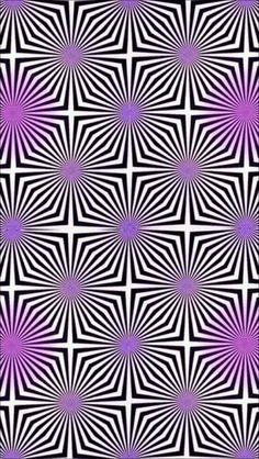 This is an example of movement. If you stare at it you'll see the picture moving. It uses directional forces created by actual lines. Optical Illusion Wallpaper, Optical Illusion Paintings, Optical Illusions Pictures, Trippy Pictures, Illusion Pictures, Look Wallpaper, Trippy Wallpaper, Iphone Wallpaper, Illusion Kunst