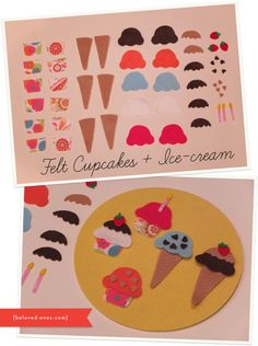 How to Make Your Own: Felt Cupcakes + Icecream