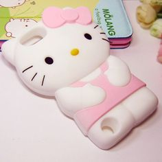 3D Cartoon Pink Hello Kitty Cases for iPod 5 Touch 5 5TH - iPod touch 5 Cases - iPod Cases -- 3D Cartoon Pink Hello Kitty iPod Touch 5 Silicone Case Soft Cover for iPod Touch 5 5TH, fun animal friends in silicone protect your iPod touch. It is Easy access to all ports, controls and connectors.