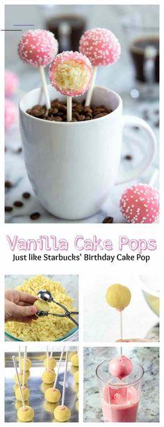 How to Make Cake Pops- Starbucks Copycat (VIDEO) - Simply Home Cooked - #starbuckscake Cake Pops Roses, Pink Cake Pops, Desserts Roses, Rosa Desserts, Starbucks Cake Pops, Oreo Bars, Cake Ball Recipes, Dessert Recipes, Velvet Cake