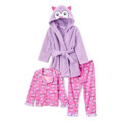 951540e81e Freestyle Revolution - Freestyle Revolution Girl s 3 Piece Pajama Sleep Set  with Plush Robe (Little Girl   Big Girl) - Walmart.com