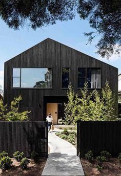 Australian Architecture, Contemporary Architecture, Interior Architecture, Australian Houses, Residential Architecture, Interior Design, White Mosaic Tiles, Timber Cladding, Interior Cladding