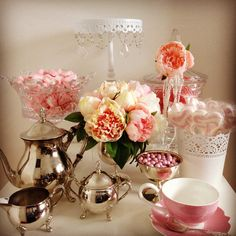 Vintage Floral kitchen tea / bridal shower magic. All items available for hire from Sweet Bits and Pieces www.sweetbitsandpieces.com.au