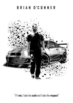 brian o conner skyline nissan fast and furious paul walker movie toreto respect quote cash Fast And Furious, The Furious, Paul Walker Quotes, Rip Paul Walker, Nissan Gtr, Nissan Skyline, Gtr R34, Auto Poster, Carros Lamborghini
