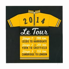 LE TOUR screen print by James Brown
