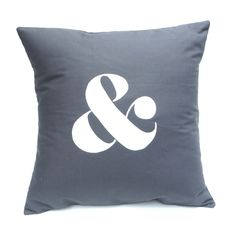 & in Charcoal – Handmade Cushion Cover.