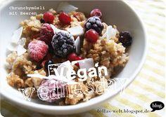 Billas Frühstück: einn Crunchymüsli mit Beeren
