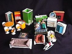 1970's Fisher Price Doll House- We had the green bathroom stuff