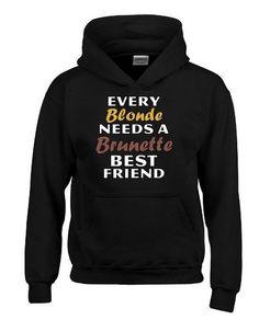 best friend hoodies blonde brunette