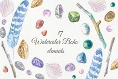 Watercolor Boho elements by le-genda on @creativemarket
