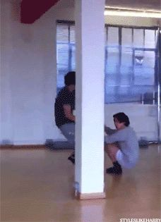 Nothing out of the ordinary. Just dragging Harry on a wood floor while he's wearing socks. There's nothing to see here. [GIF]