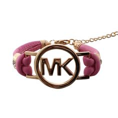Michael Kors Skinny Logo Chain Pink Accessories Outlet