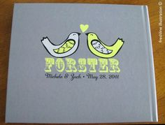 Made to Order Wedding Guest Book Personalized to Your by Freshline, $120.95