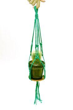 Home Decor  Green Macrame  Plant  Hanger  15 by DanceOfTheSoul