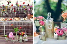 Botellas y jarrones para tu casamiento