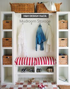 Our mudroom storage design hack shows you how to easily create a functional and family-friendly mudroom with plenty of storage.