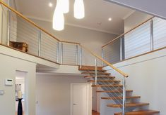 Give your staircase or balcony a modern, casual look by installing stainless steel wire balustrade in Perth. Wire Balustrade, Balustrade Design, Stairs, Home Decor, Stairway, Decoration Home, Staircases, Room Decor, Stairways