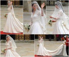 Her amazing dress reminded me of Princess Grace's dress...beautiful!