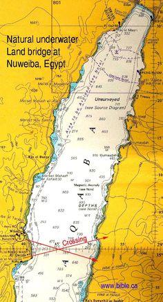Map of Land Bridge - Nuweiba, Egypt