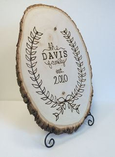 Hey, I found this really awesome Etsy listing at https://www.etsy.com/listing/206877547/custom-family-name-wood-burnt-sign-on