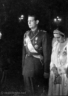 King Michael I, wearing the Soviet Order of Victory, with Princess Elizaveta of Romania, spouse of King George II of Greece Queen Victoria Family, Princess Victoria, Michael I Of Romania, Romanian Royal Family, King George Ii, Christian Ix, Central And Eastern Europe, Princess Alexandra, Imperial Russia