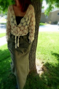 RePurposed Dress Vintage Cotton Crochet Sweater and by MexiSoul, $95.00