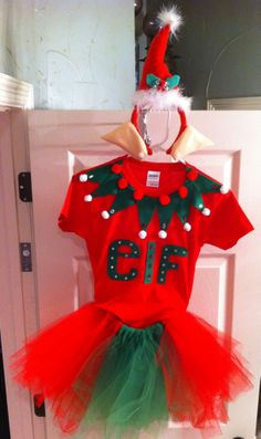 Made my daughter an awesome (if I do say so myself) Elf costume for tomorrow's Christmas performance! Yay me!