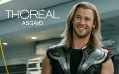 "TH'ORÉAL   ::  ""Because he is worth it"""