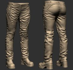 ArtStation - survivor horror game character project wip, Rodrigo A. Zbrush Character, Game Character, Zbrush Tutorial, Character Design References, Game Design, Clothing Patterns, Sculpting, Tutorials, Fabric