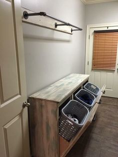 Have a boring laundry room? Farmhouse laundry room ideas to offer your area a stunning makeover. Consider this farmhouse laundry room ideas to makeover your own laundry room! Discover a laundry room farmhouse ideas and also inspiration design here. Laundry Room Remodel, Laundry Room Organization, Laundry Room Design, Laundry In Bathroom, Small Laundry, Laundry Baskets, Laundry Storage, Laundry Table, Organized Laundry Rooms