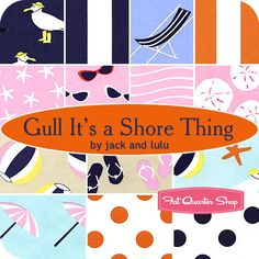 Gull It's a Shore Thing Fat Quarter Bundle Jack and Lulu for Dear Stella Fabrics - Fat Quarter Shop