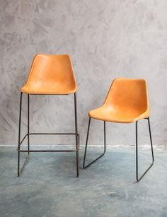 Design lederen eetkamerstoelen - Design leather dining chairs - #WoonTheater