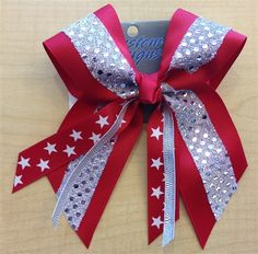 Red Star Bow by Empire Cheer, $12.00 #cheerleading #cheerbow #hairbow