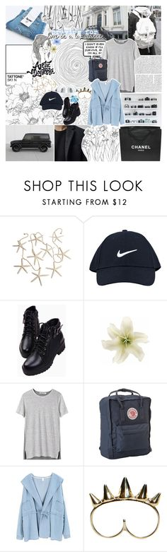 """PAYING IN NAIVETY"" by dreams-of-pxrxdise ❤ liked on Polyvore featuring NIKE, Chanel, Luli, Clips, T By Alexander Wang, Fjällräven and Chicnova Fashion"