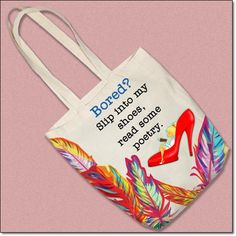 Custom tote bag for poetry lovers