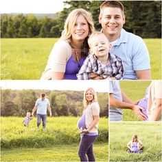family maternity pictures- Like the idea of the boys in back- but maybe being more playful-